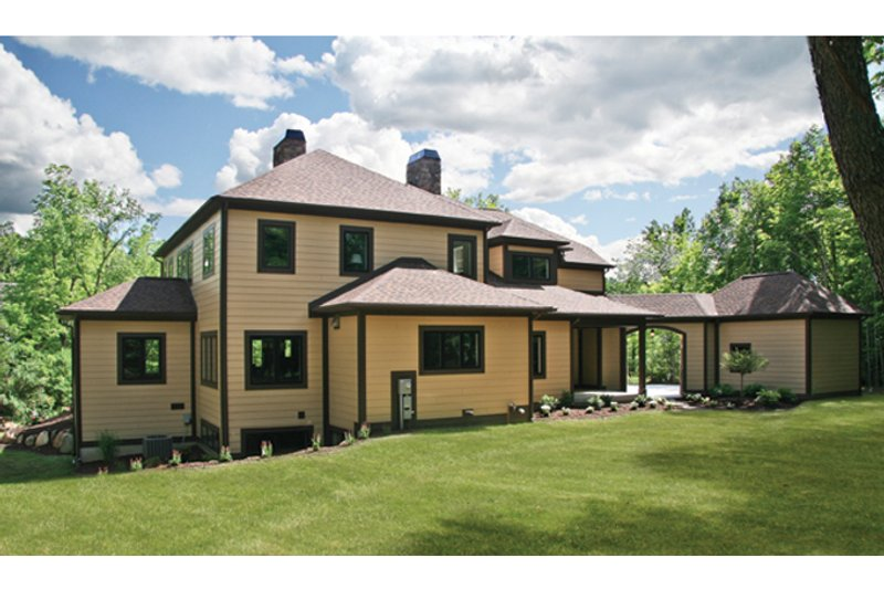 Prairie Exterior - Rear Elevation Plan #928-248 - Houseplans.com