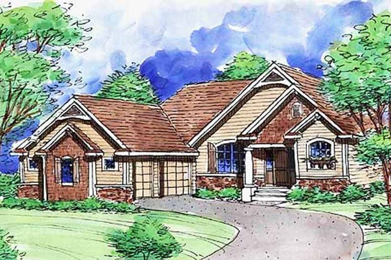 Dream House Plan - European Exterior - Front Elevation Plan #320-1479