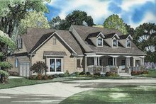 Dream House Plan - Country Exterior - Front Elevation Plan #17-2801