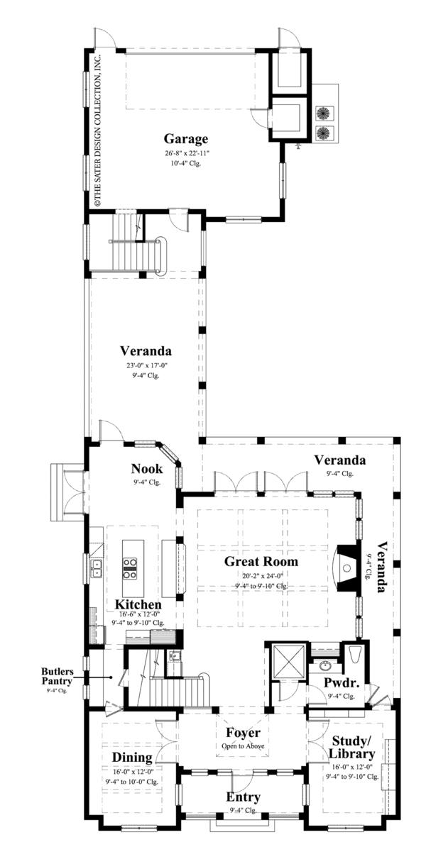 Traditional Floor Plan - Main Floor Plan Plan #930-441