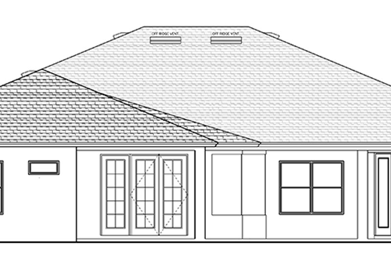 European Exterior - Rear Elevation Plan #1058-130 - Houseplans.com