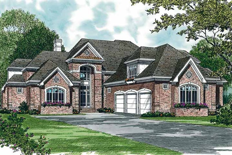 Dream House Plan - Traditional Exterior - Front Elevation Plan #453-357