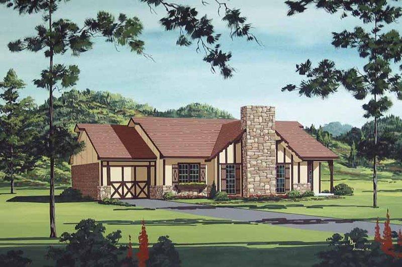 Dream House Plan - European Exterior - Front Elevation Plan #45-398