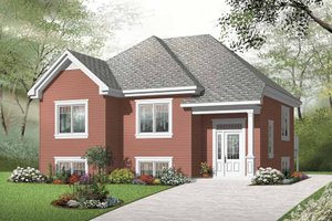 European Exterior - Front Elevation Plan #23-2388