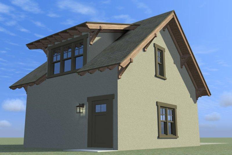 Craftsman Exterior - Rear Elevation Plan #64-319 - Houseplans.com