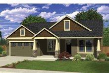Ranch Exterior - Front Elevation Plan #943-32