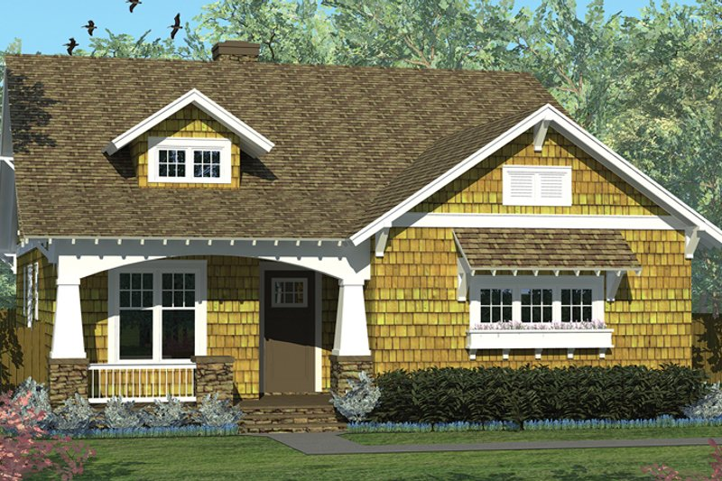 Craftsman Exterior - Front Elevation Plan #453-613 - Houseplans.com