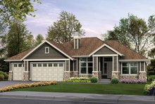 Architectural House Design - Craftsman Exterior - Front Elevation Plan #132-340