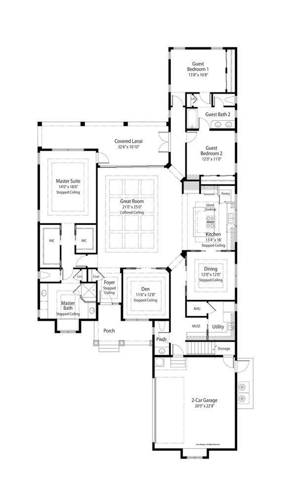 Country Floor Plan - Main Floor Plan Plan #938-64