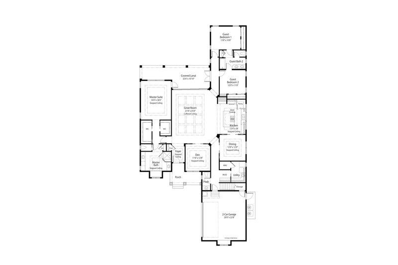 Country Floor Plan - Main Floor Plan Plan #938-64