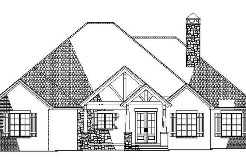 Ranch Exterior - Front Elevation Plan #17-3367 - Houseplans.com
