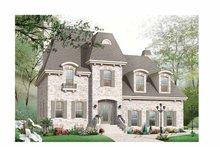 Craftsman Exterior - Front Elevation Plan #23-2442