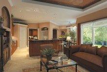 Architectural House Design - Mediterranean Interior - Family Room Plan #930-175