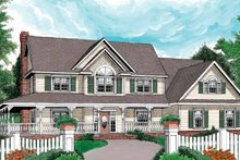 Architectural House Design - Victorian Exterior - Front Elevation Plan #11-262