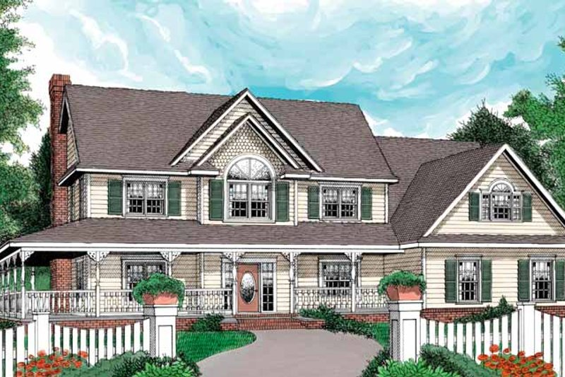 Victorian Exterior - Front Elevation Plan #11-262
