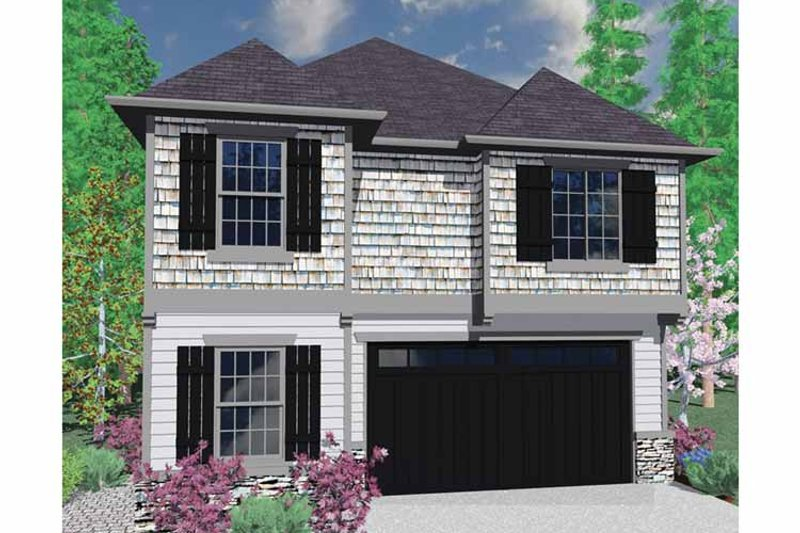 Country Exterior - Front Elevation Plan #509-255 - Houseplans.com