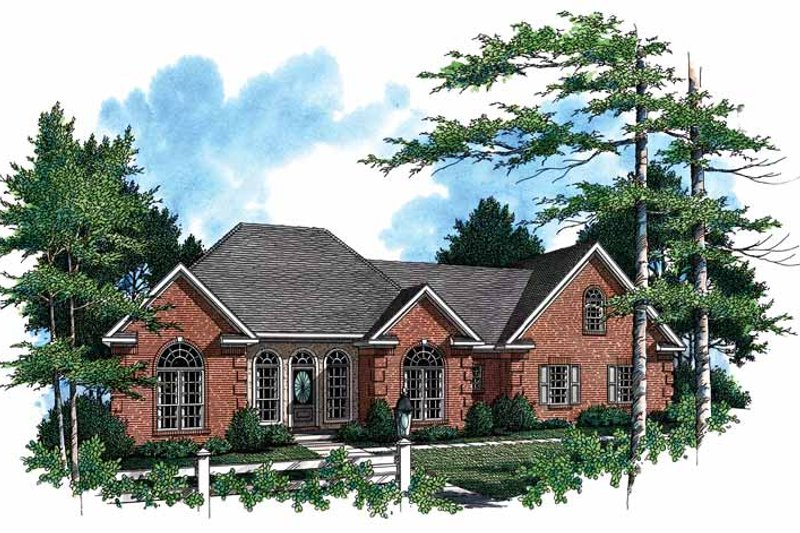 European Exterior - Front Elevation Plan #21-415