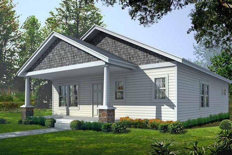 Architectural House Design - Craftsman Exterior - Front Elevation Plan #1037-6