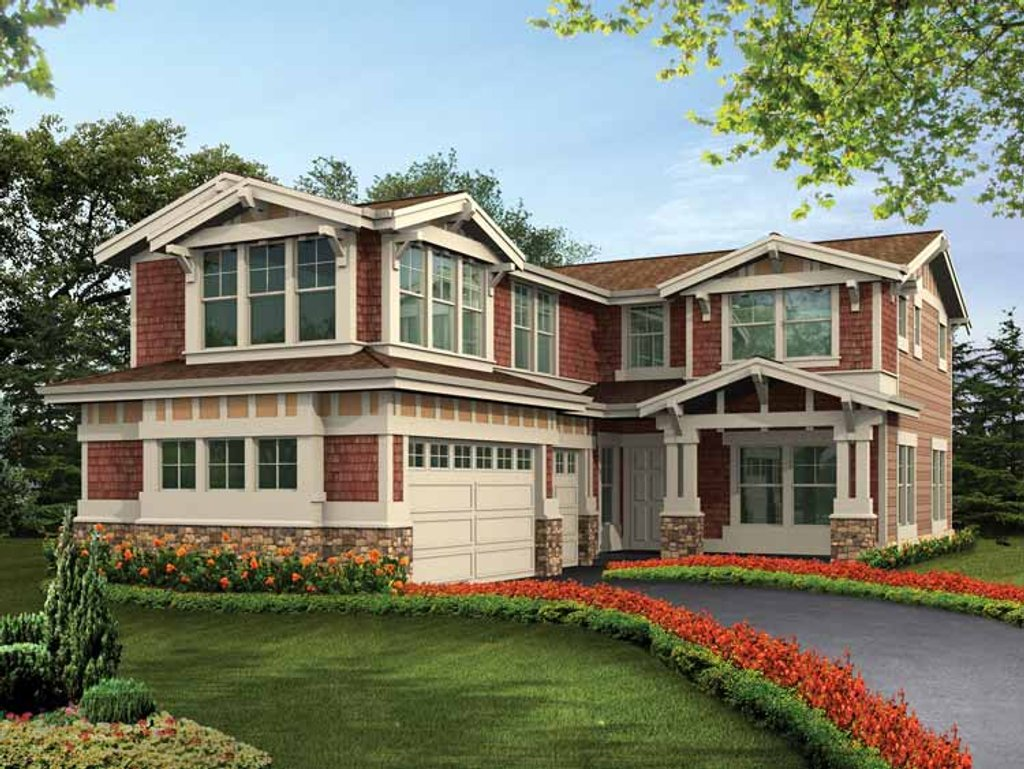 Craftsman style house plan 5 beds 4 baths 3416 sq ft for Eplans com