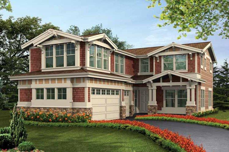 Craftsman Exterior - Front Elevation Plan #132-431