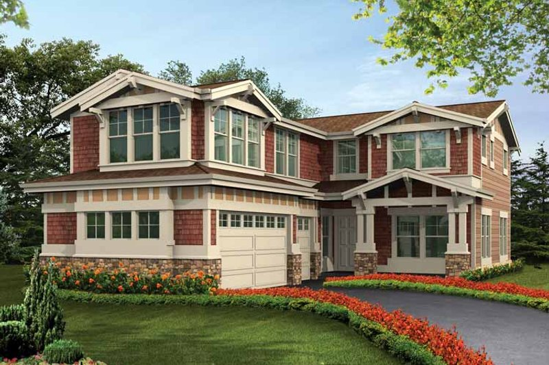 Craftsman Exterior - Front Elevation Plan #132-431