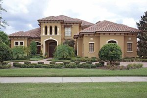Home Plan - Mediterranean Exterior - Front Elevation Plan #1019-12