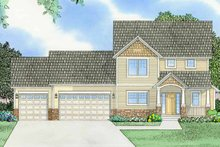 Home Plan - Prairie Exterior - Front Elevation Plan #981-12