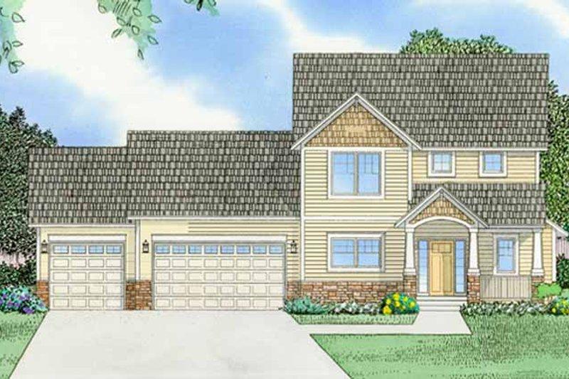House Plan Design - Prairie Exterior - Front Elevation Plan #981-12