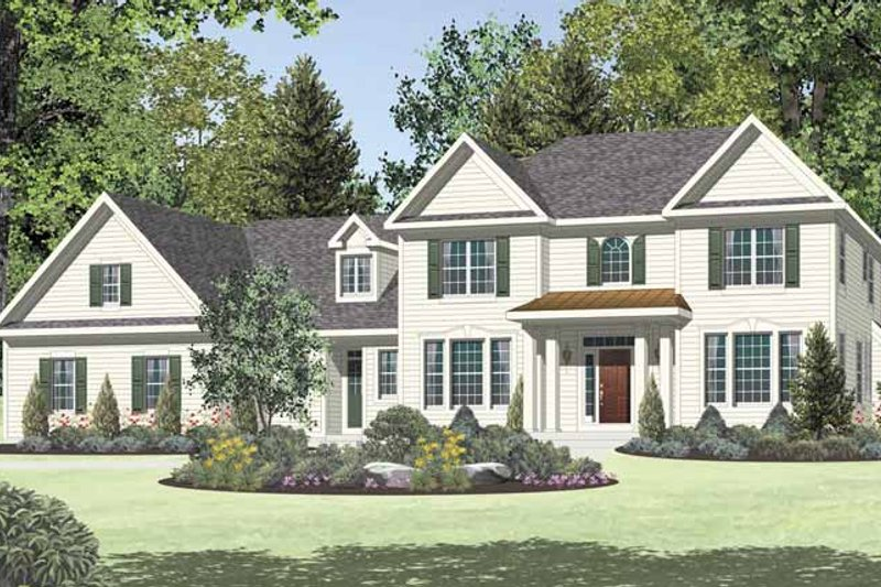 Dream House Plan - Traditional Exterior - Front Elevation Plan #328-462