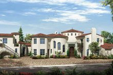 House Plan Design - Mediterranean Exterior - Front Elevation Plan #944-2