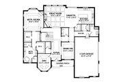 European Style House Plan - 4 Beds 3.5 Baths 4678 Sq/Ft Plan #1057-2 Floor Plan - Main Floor