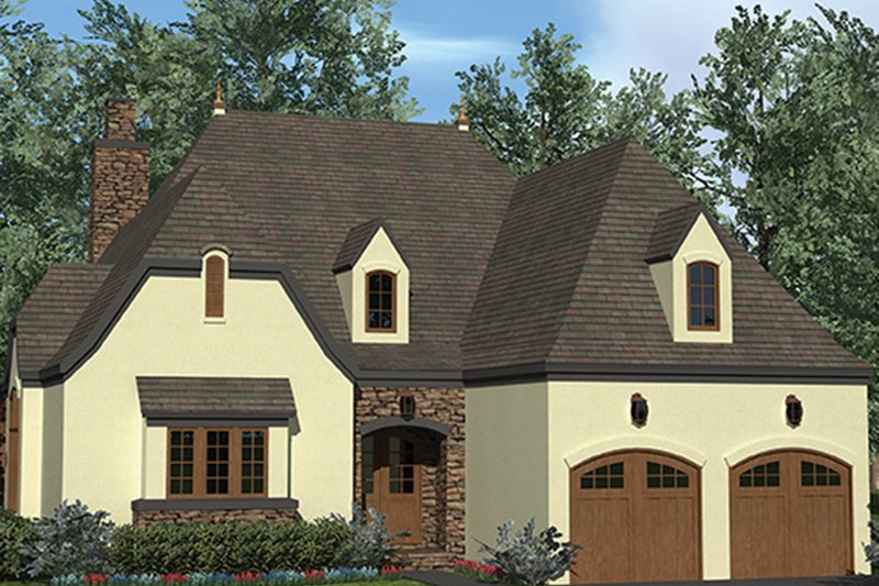 European Exterior - Front Elevation Plan #453-624