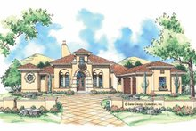 Home Plan - Mediterranean Exterior - Front Elevation Plan #930-306