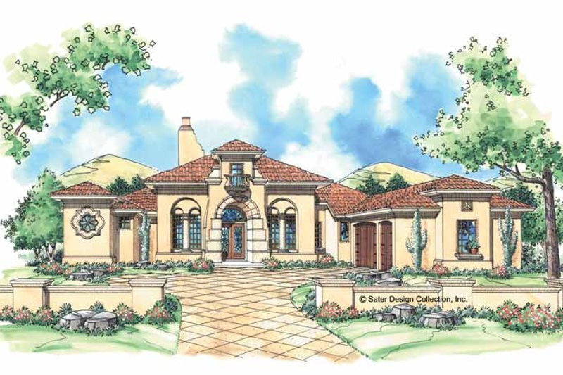 Mediterranean Exterior - Front Elevation Plan #930-306