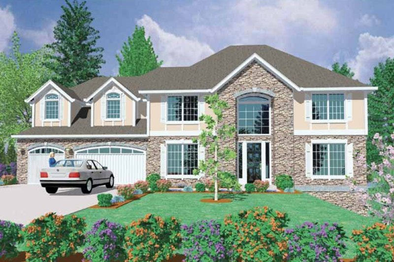 Traditional Exterior - Front Elevation Plan #509-388 - Houseplans.com
