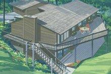 Dream House Plan - Prairie Exterior - Rear Elevation Plan #320-1337