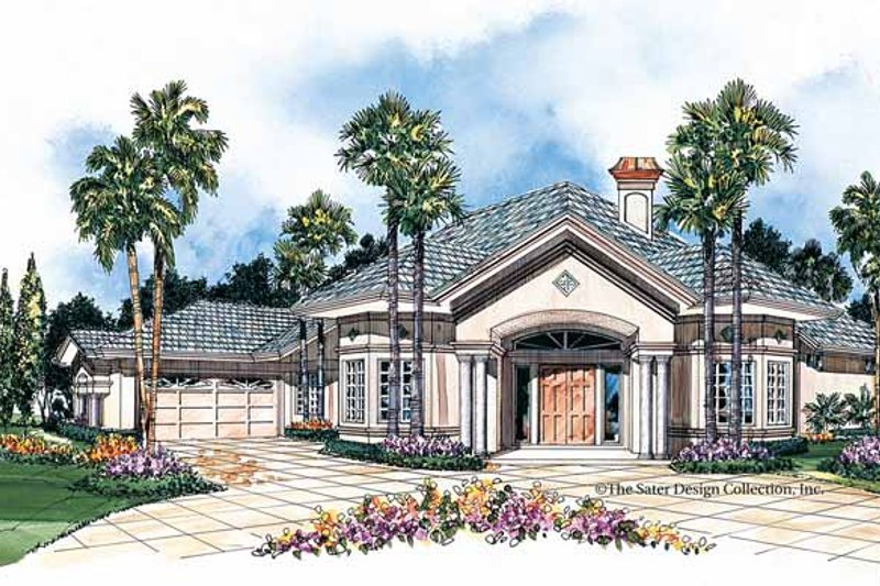 Mediterranean Exterior - Front Elevation Plan #930-36