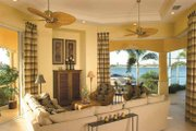 Mediterranean Style House Plan - 4 Beds 3.5 Baths 3817 Sq/Ft Plan #930-321 Interior - Family Room