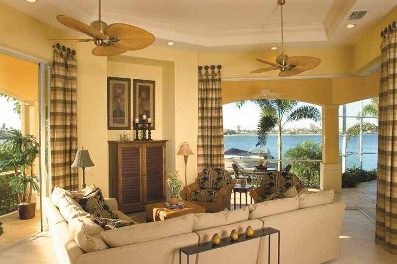 Mediterranean Interior - Family Room Plan #930-321 - Houseplans.com