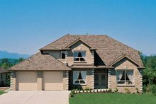 House Blueprint - Traditional Exterior - Front Elevation Plan #47-855