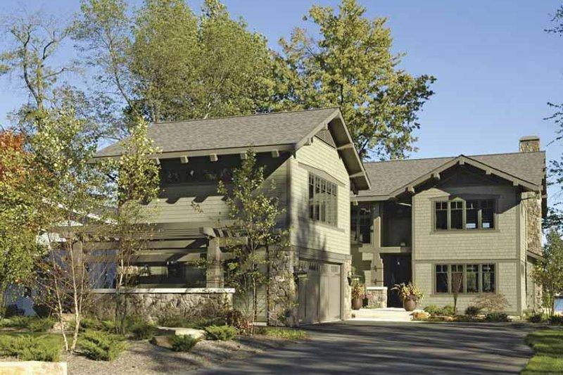 Architectural House Design - Craftsman Exterior - Front Elevation Plan #928-15