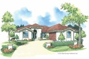 Adobe / Southwestern Style House Plan - 3 Beds 2 Baths 1647 Sq/Ft Plan #930-338 Exterior - Front Elevation