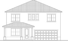 Home Plan - Mediterranean Exterior - Front Elevation Plan #1058-62