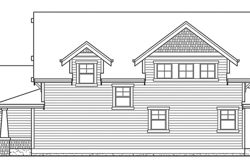 Craftsman Exterior - Other Elevation Plan #132-358 - Houseplans.com