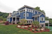 Craftsman Style House Plan - 4 Beds 2.5 Baths 3203 Sq/Ft Plan #928-18 Exterior - Rear Elevation