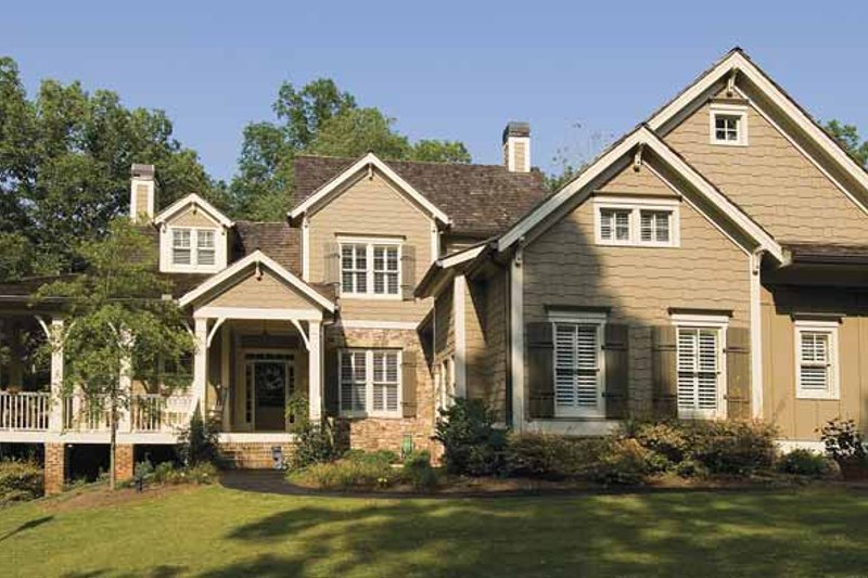 Dream House Plan - Traditional Exterior - Front Elevation Plan #54-261