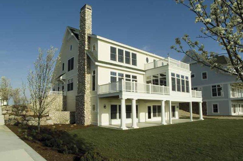 Colonial Exterior - Rear Elevation Plan #928-74 - Houseplans.com