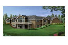 Craftsman Exterior - Rear Elevation Plan #132-552