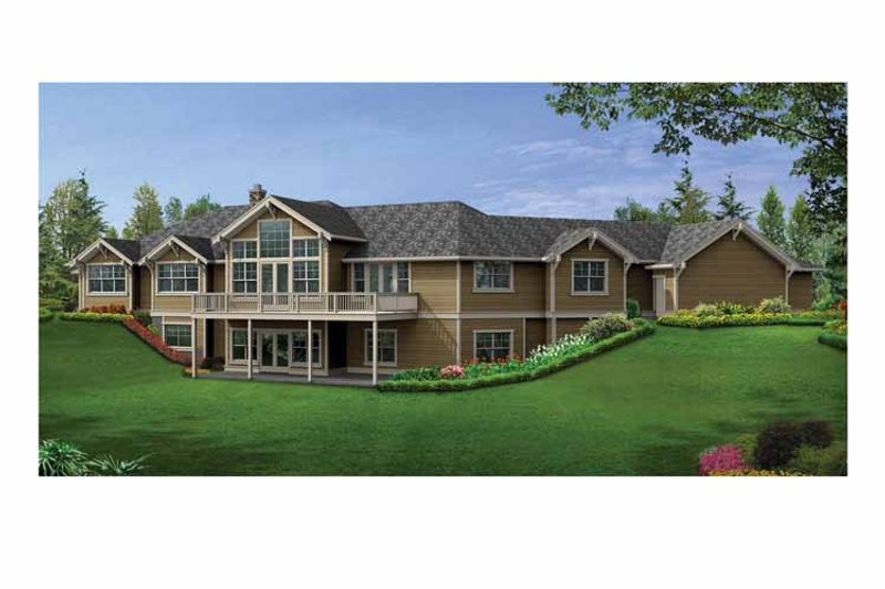 Craftsman Exterior - Rear Elevation Plan #132-552 - Houseplans.com