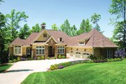 European Style House Plan - 3 Beds 3.5 Baths 3874 Sq/Ft Plan #929-929 Exterior - Front Elevation